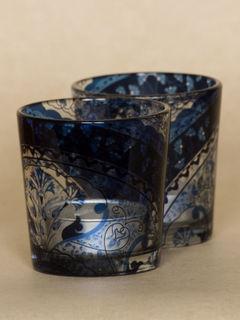 Blue Kaleidoscope Tealight holder