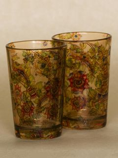 Gold Kaleidoscope shot glass