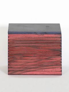Red Wooden Box with Lid