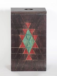 Brown Wooden Box with Lid