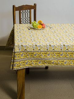 Pineapple Oasis block print 8 seater table cover