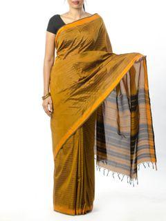 Green Striped Silk Saree