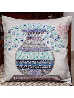 Aquarius Zodiac Sign Cushion Cover - 16 X 16 Inch