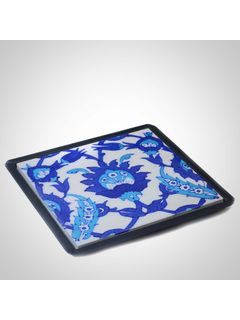 Blue Ceramic Table Trivet - 6 X 6 Inches