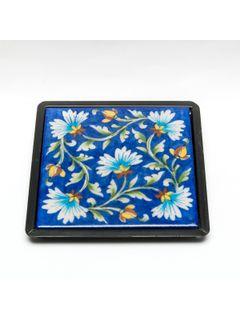 Blue Ceramic Table Trivet - 6 X 6 Inches