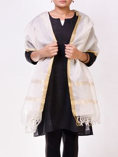 Off White Chanderi Stole