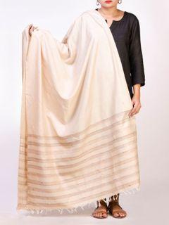 Off White Tussar Silk  Dupatta