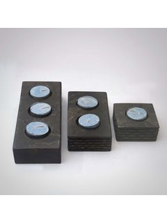 Stone Candle Holder - Set of three