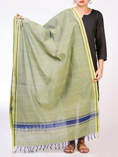 Green Mangalagiri Cotton Dupatta