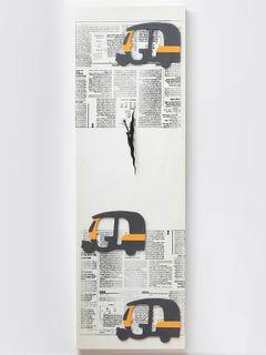 Autorickshaw wall clock