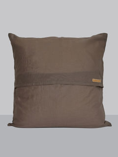 Linen Cushion Cover, Grey Color - 16 x 16 Inch