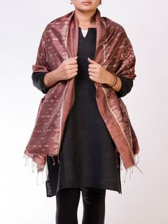 Brown Silk Ikat Stole