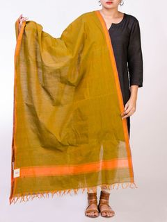 Green Mangalgiri Cotton Dupatta