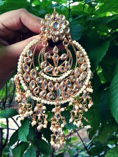 Kundan Hand Crafted Earrings