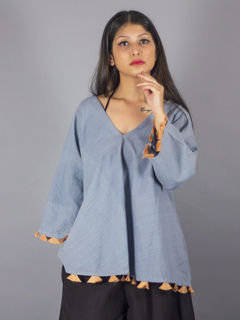 Sufi Grey  Cotton Top
