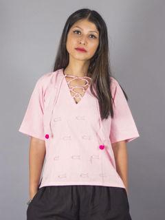 Gulabi Dori Pink Top