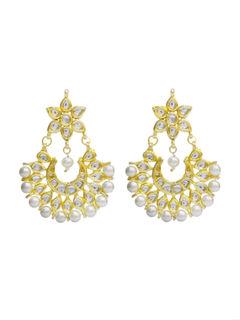 Small Kundan Chandbali Earrings