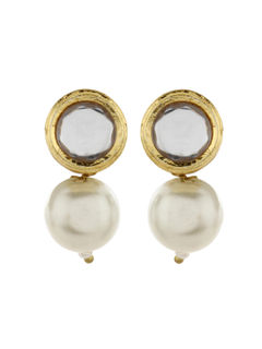 Pearl Bali Stud Earrings Indian Traditional Bridal Earring