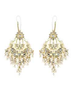 Kundan Pearl Dangle earrings