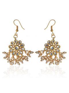 Small Kundan Dangle Earrings