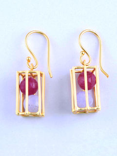 Ronnie Magenta Earrings
