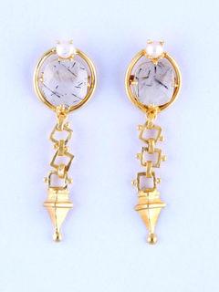 Lenzaa Blanc Earrings