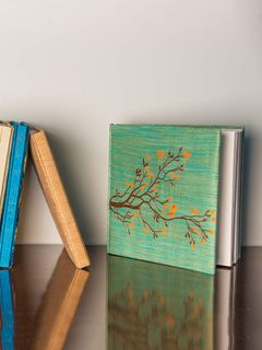 Green Embroidered Dupion Silk Diary