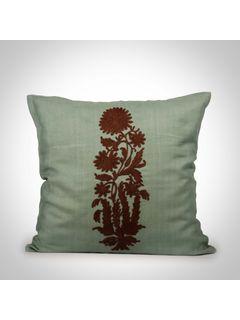 Sea green Cotton Silk Cushion Cover - 16x16Inch