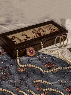 Wooden Varli Jewellery Box