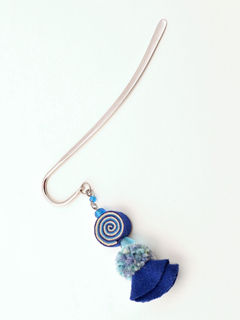 Psychedelic Doll Bookmark - Blue