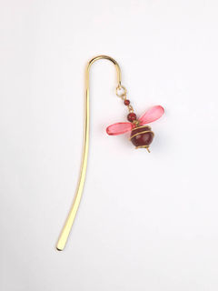 Elegant Brass Bookmark- Bumble Bee Mini- Red