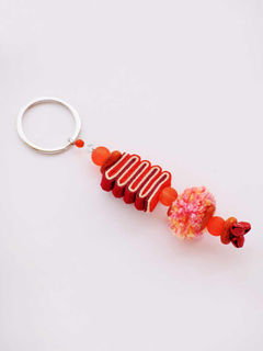 Caterpillar Keychain - Red