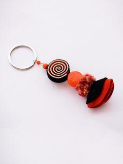 Psychedelic Doll Keychain - Orange