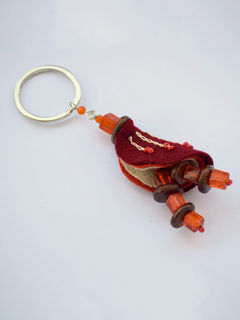 Chrysalis Keychain - Orange