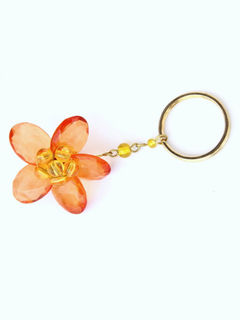 Dangling Keychain-Bountiful Flower  Orange