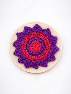 Pinwheel Coaster Purple