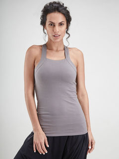 Grey Racer Back Tank Top