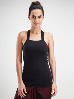 Black Racer Back Tank Top