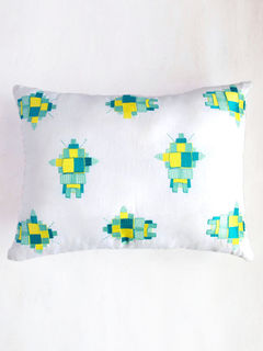 Embroidered Robot Cushion