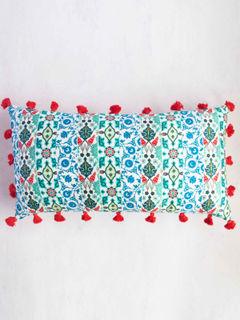 Tasseled Blues Cushion