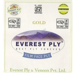 Everest Shuttering (Film Faced) Plywood - Gold (34Kg) Thickness 12 Mm Shuttering