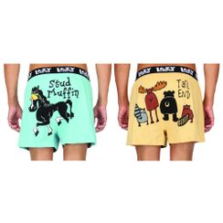 Stud Muffin& Tail End-Lazyone Men Boxer Combo