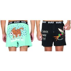 Shake It ! (Dog)& Check Your Fly!-Lazyone Men Boxer Combo