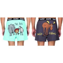 Tail End& Moose Caboose-Lazyone Men Boxer Combo