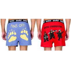Paws Off!& Going Commando-Lazyone Men Boxer Combo