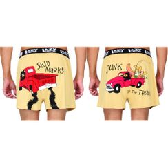 Skid Marks& Junk In The Trunk-Lazyone Men Boxer Combo