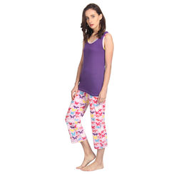 Papillon-Women Tank Top Capri Set