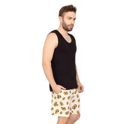 Plain Tank Top & No You Do It-Men Shorts Set