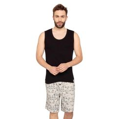 Plain Tank Top & Traveller-Men Shorts Set