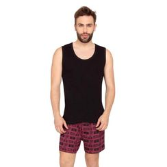 Plain Tank Top & Camera-Men Shorts Set